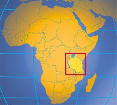 Mapa Tanzanie